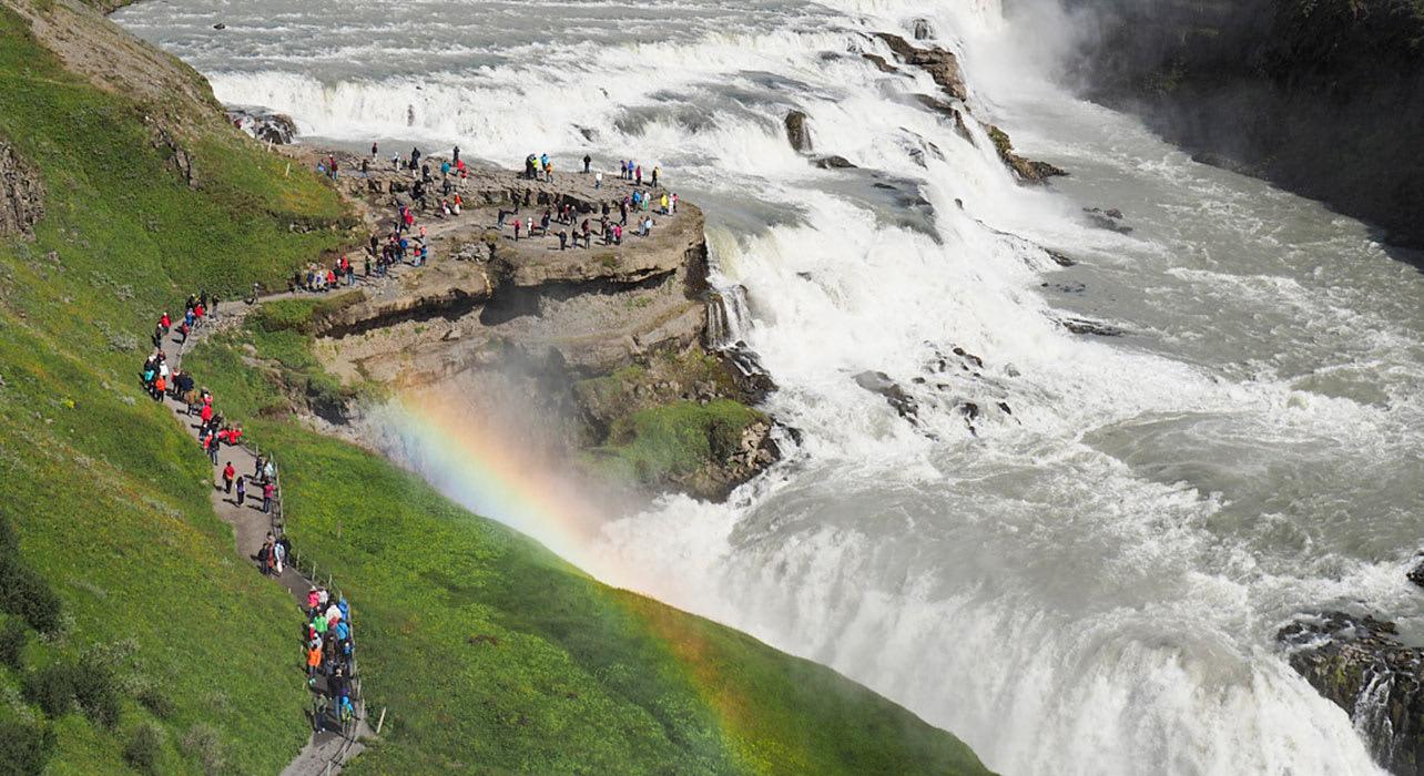 5 slide path vikings waterfall reykjavik pano
