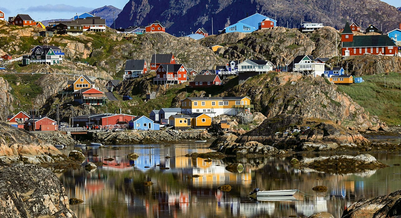 greenland colorful coastal homes