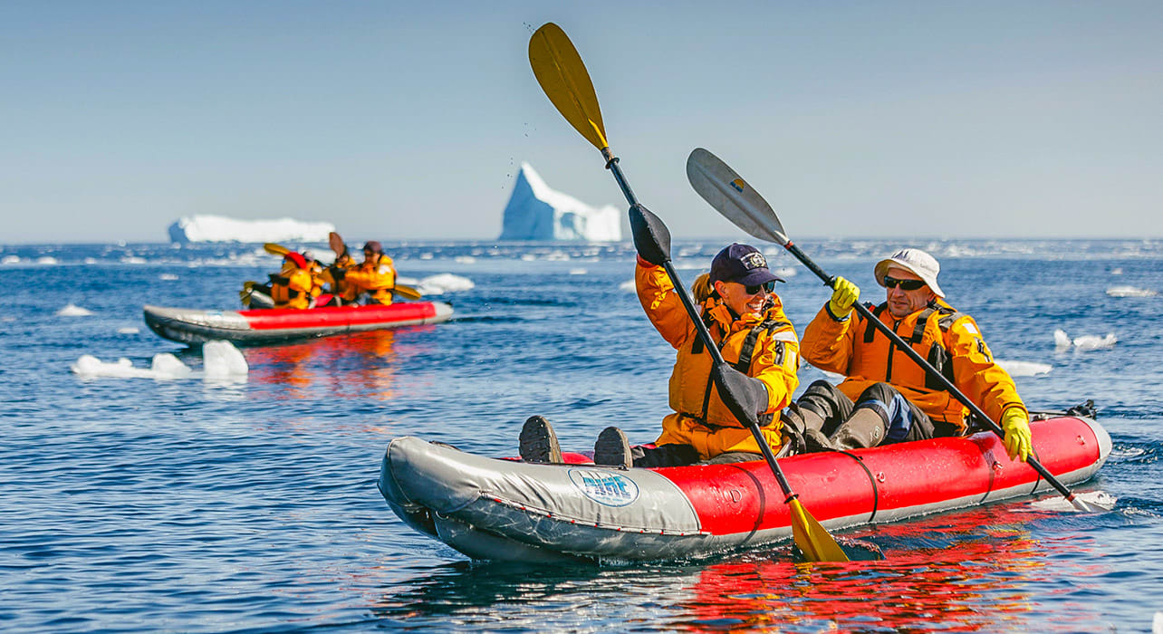 spitsbergen big island paddling excursion adventure