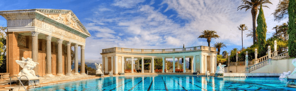 The Greecian Pool at Hearst Castle