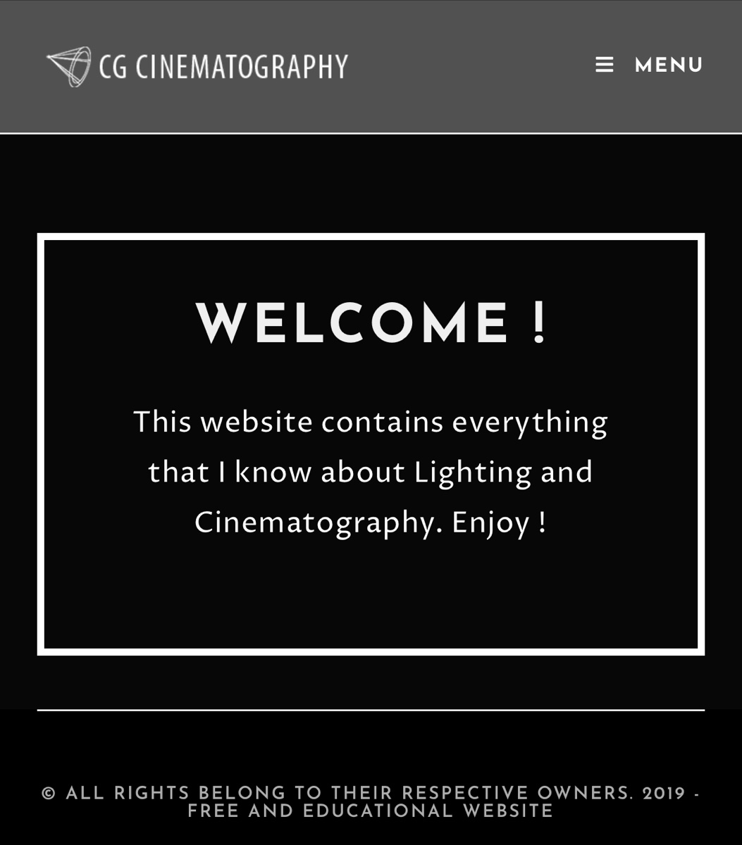 CG Cinematography Free EBook online