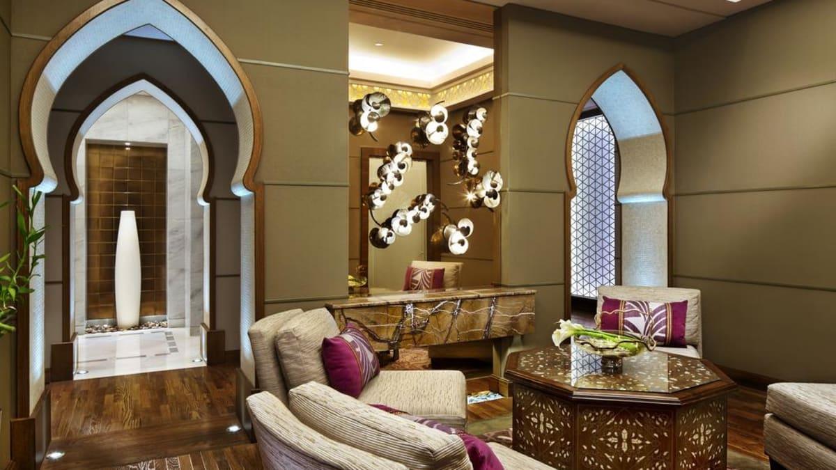 Hotel lounge area in Makkah