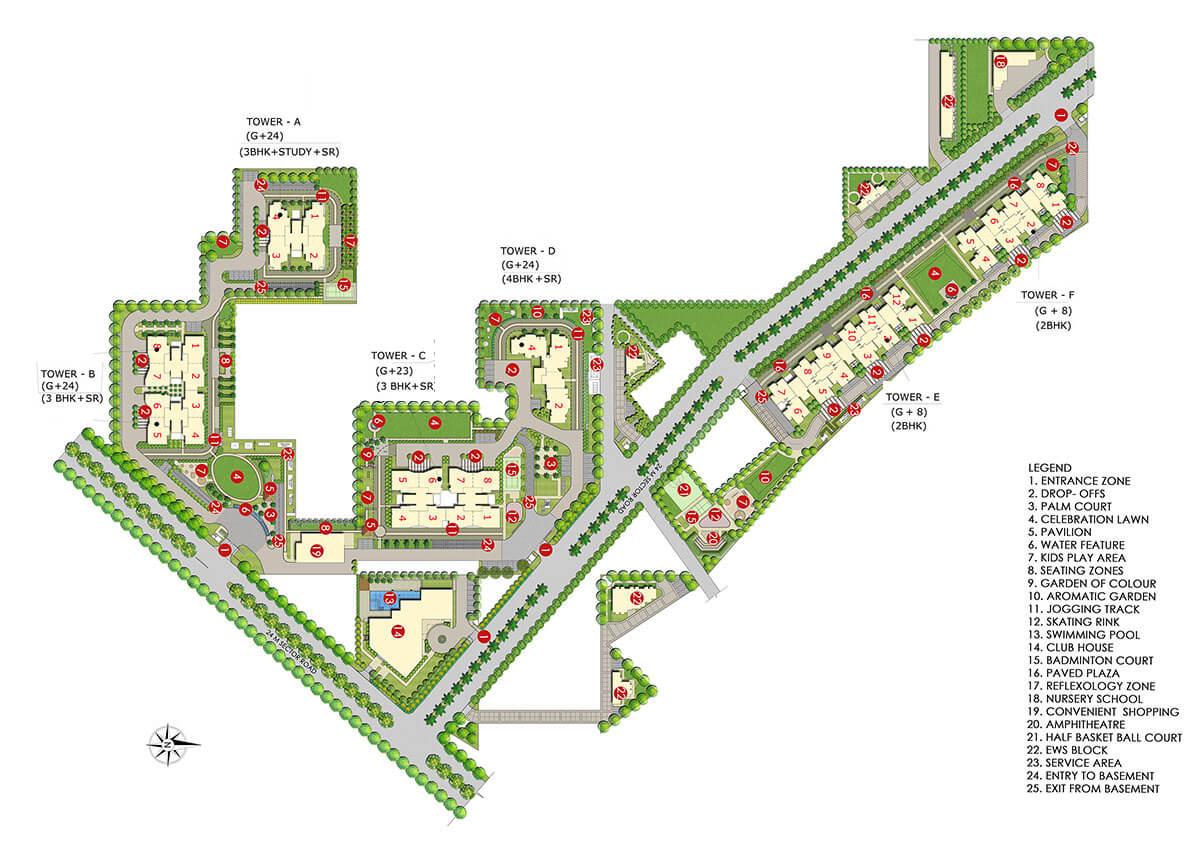 paras dews site plan