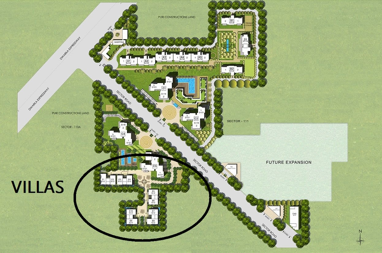 site plan puri diplomatic villas