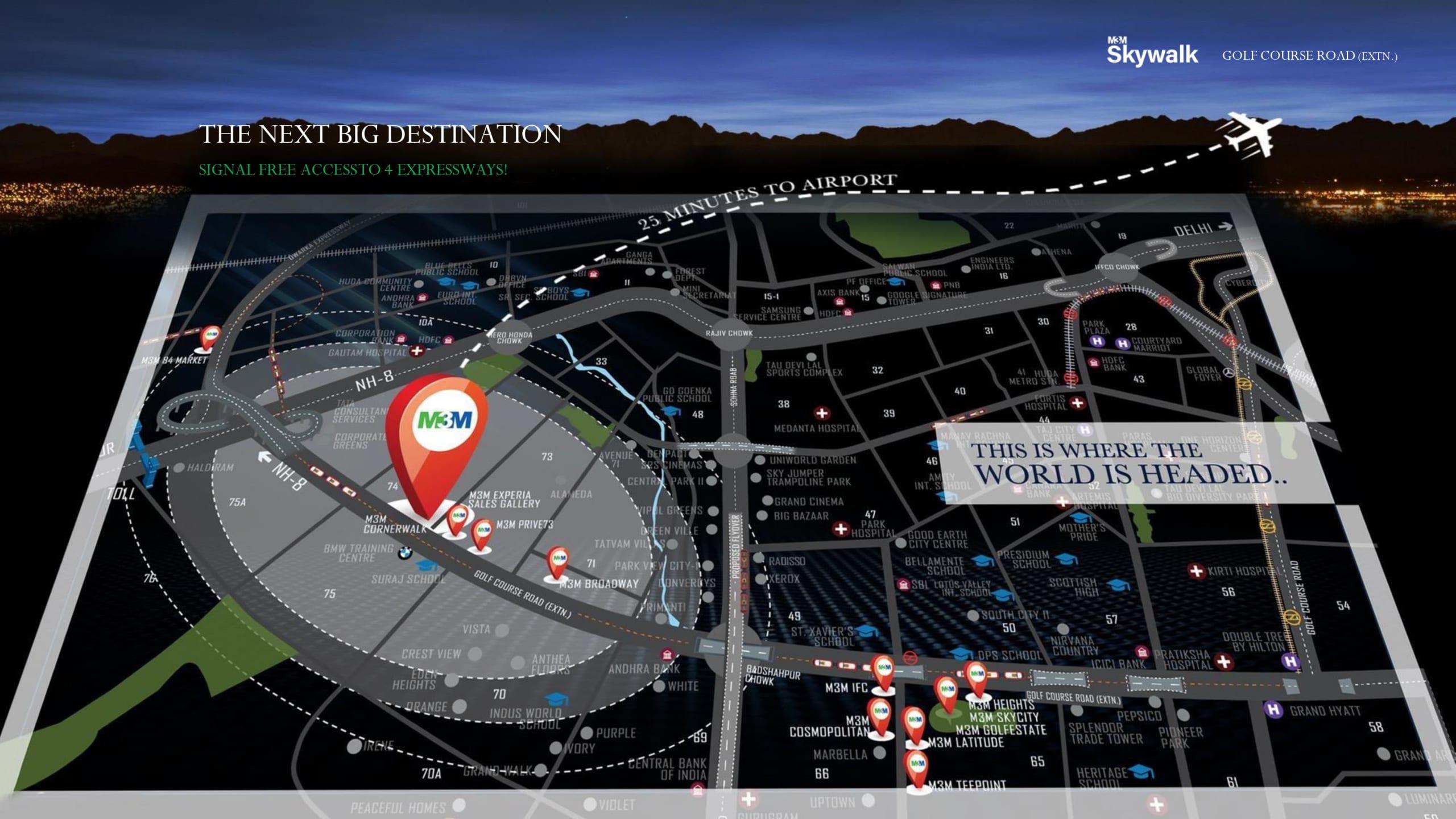skywalk location map