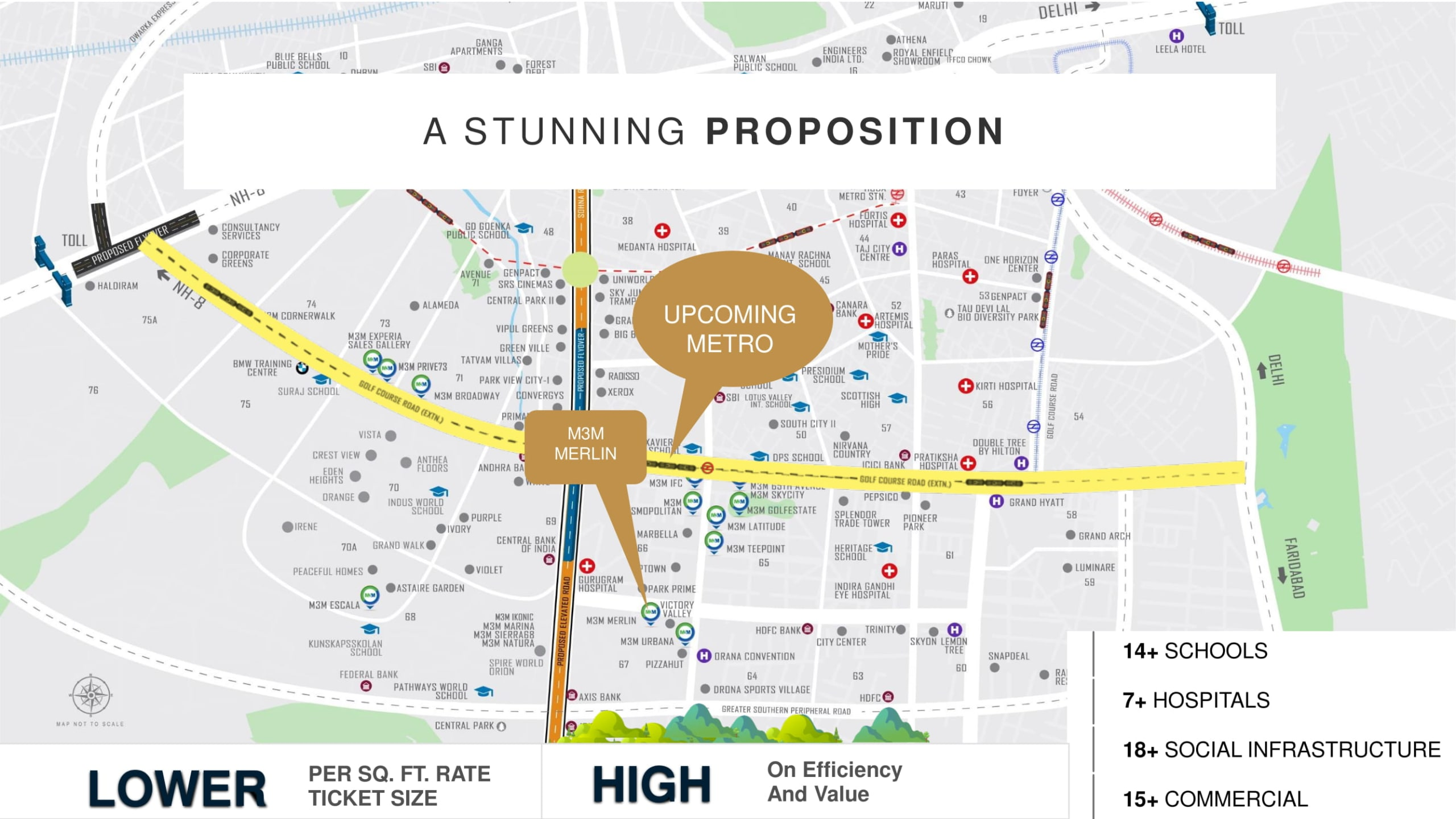m3m icon location plan