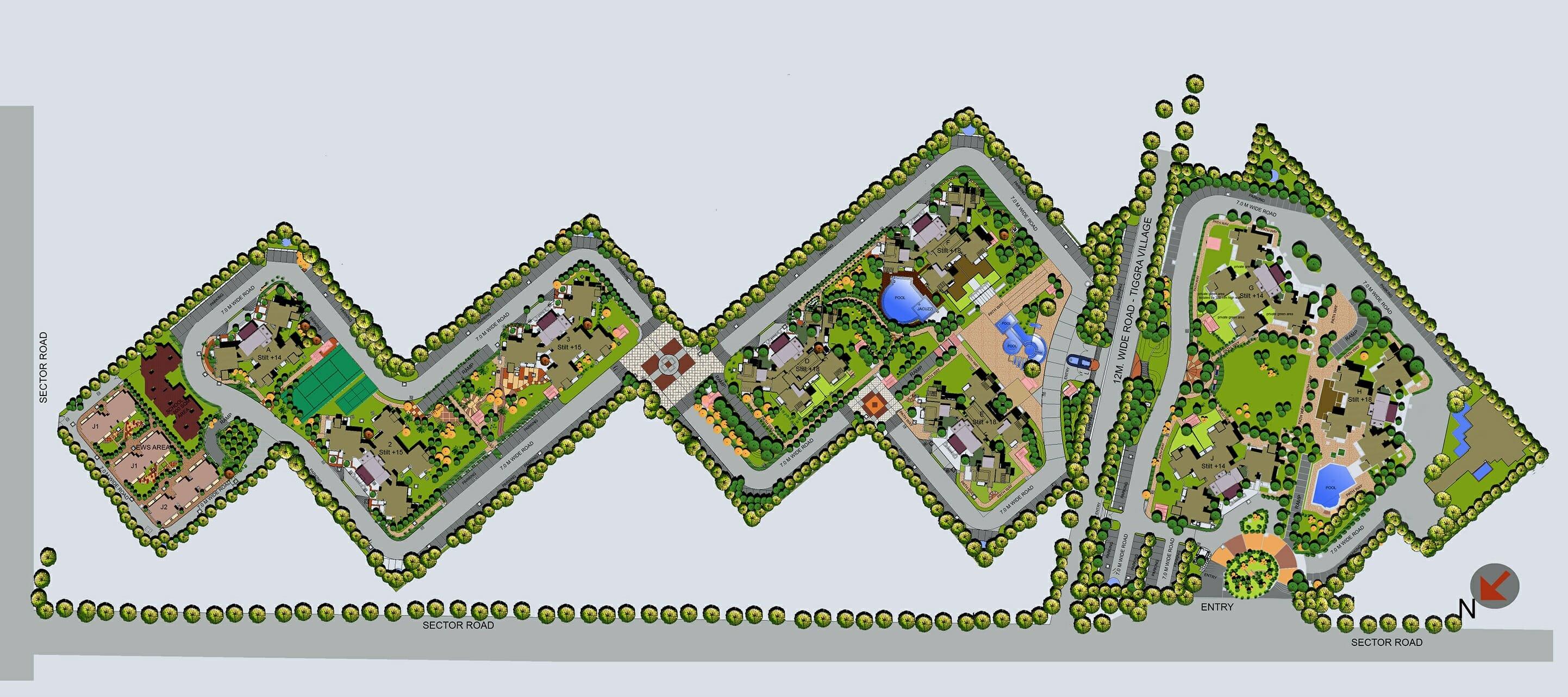 bptp fredom park life master plan