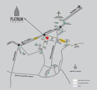location map platinum tower