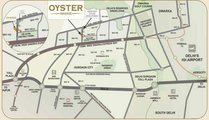 adani oyster location plan
