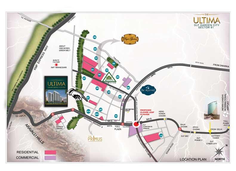 LOCATION PLAN OF DLF ULTIMA