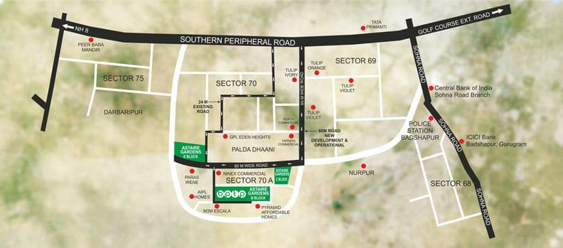 bptp astair garden location map