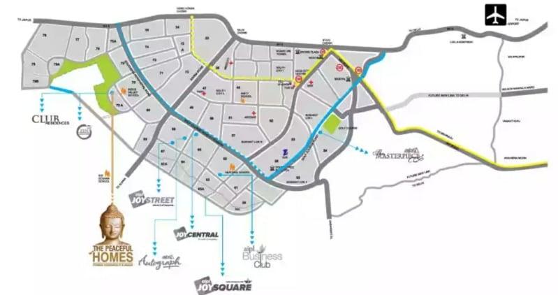 AIPL ZEN RESIDENCY LOCATION PLAN
