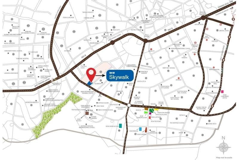 m3m skywalk location map
