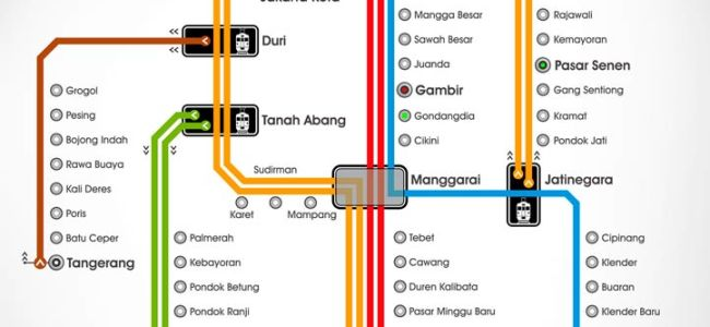map metro train of jakarta