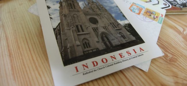 Открытки из Индонезии в России