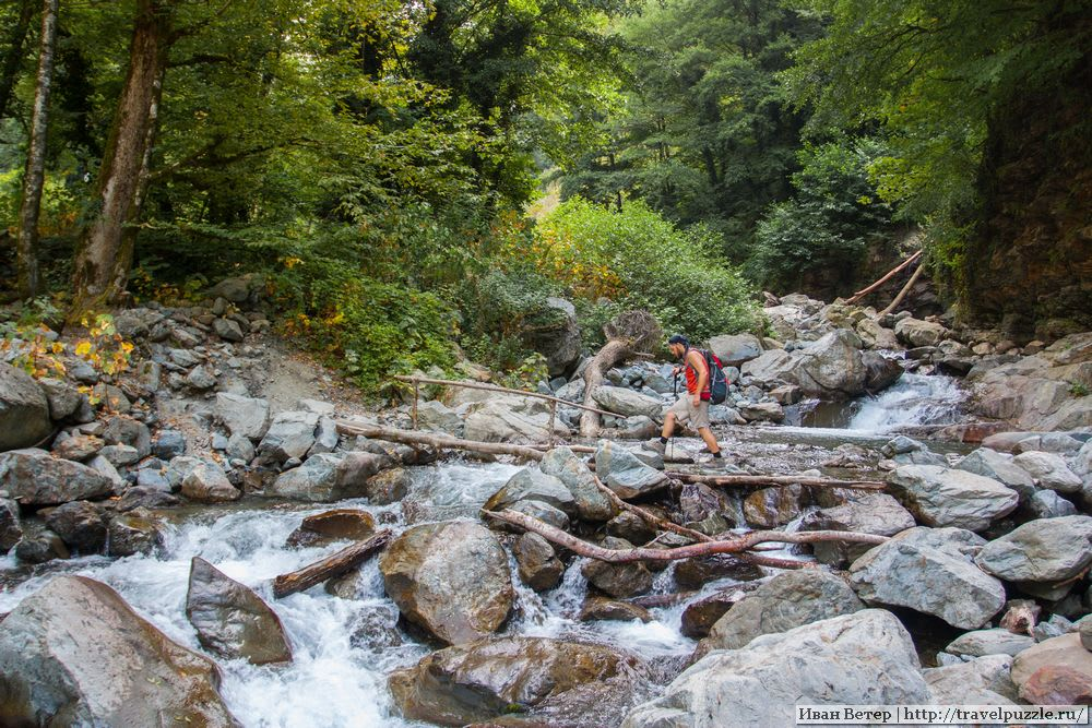 Трек на водопад Гургениани
