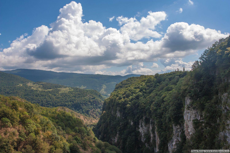 Виды каньона Окаци в Имеретии, Грузия