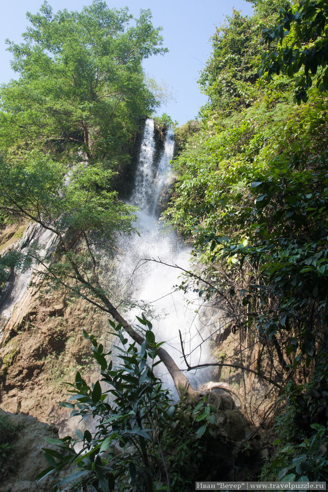 Центральная часть водопада Shi Getug