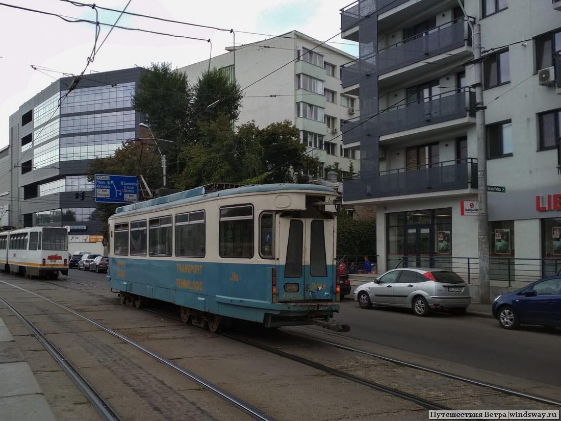 Странный трамвай в Бухаресте