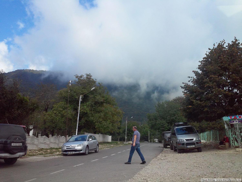 Облака на дороге в Имеретии