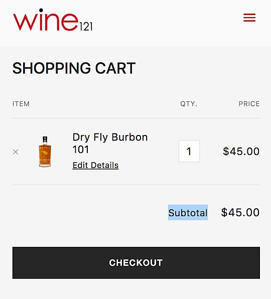 UI Shopping Cart
