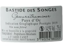 BASTIDE DES SONGES IGP PAYS D'OC GEWURZTRAMINER 2019