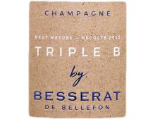 CHAMPAGNE BESSERAT DE BELLEFON  TRIPLE B BRUT NATURE