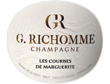 CHAMPAGNE LES COURBES DE MARGUERITE BLANC DE BLANCS BRUT BLANC - CHAMPAGNE G. RICHOMME