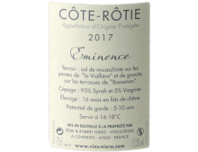 CÔTE RÔTIE EMINENCE ROUGE 2017 - RÉMI NIERO