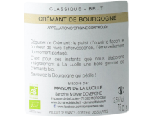 DOMAINE DE LA LUOLLE BRUT CREMANT DE BOURGOGNE BLANC 2018