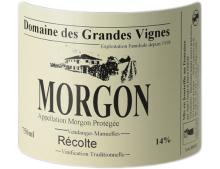 DOMAINE DES GRANDES VIGNES MORGON ROUGE 2019
