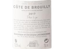 DOMAINE LES ROCHES BLEUES COTE DE BROUILLY DES LYS ROUGE 2017