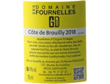 DOMAINES DES FOURNELLES GODEFROY COTE DE BROUILLY ROUGE 2018