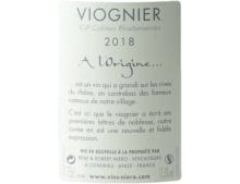 """REMI NIERO VIOGNIER """"A L'ORIGINE..."""" COLLINES RHODANIENNES BLANC 2018"""