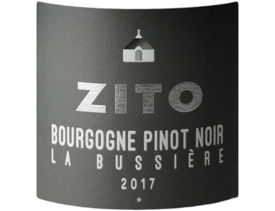 BOURGOGNE PINOT NOIR LA BUSSIÈRE ROUGE 2017 - BERNARD ZITO