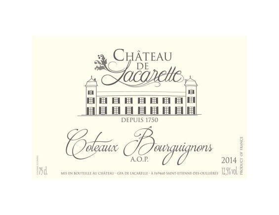 CHÂTEAU DE LACARELLE COTEAUX BOURGUIGNONS ROUGE 2014