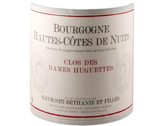 DOMAINE GAVIGNET-BETHANIE ET FILLES BOURGOGNE HAUTES COTES DE NUITS CLOS DES DAMES HUGUETTES ROUGE 2018
