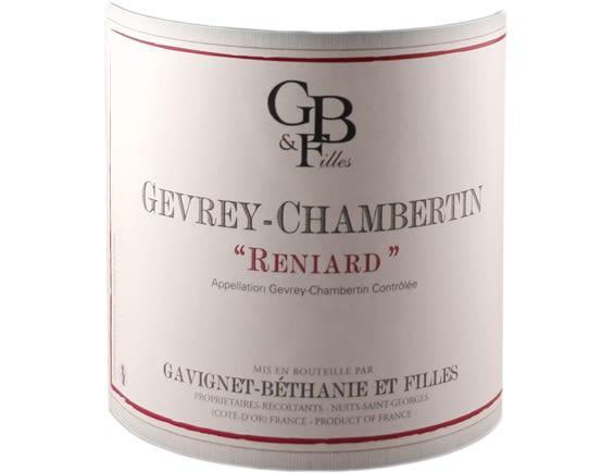 DOMAINE GAVIGNET-BETHANIE ET FILLES GEVREY CHAMBERTIN RENIARD ROUGE 2017