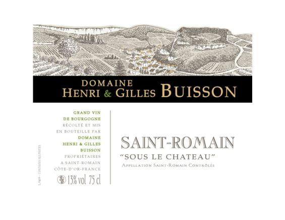 DOMAINE HENRI & GILLES BUISSON SAINT ROMAIN SOUS LE CHATEAU BLANC 2017