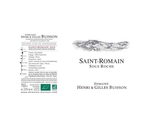 DOMAINE HENRI & GILLES BUISSON SAINT ROMAIN SOUS ROCHE ROUGE 2018