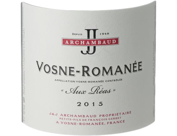 VOSNE-ROMANÉE AUX RÉAS ROUGE 2015 - J&J ARCHAMBAUD