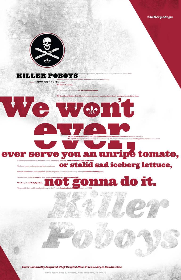 Killer Poboys manifesto poster
