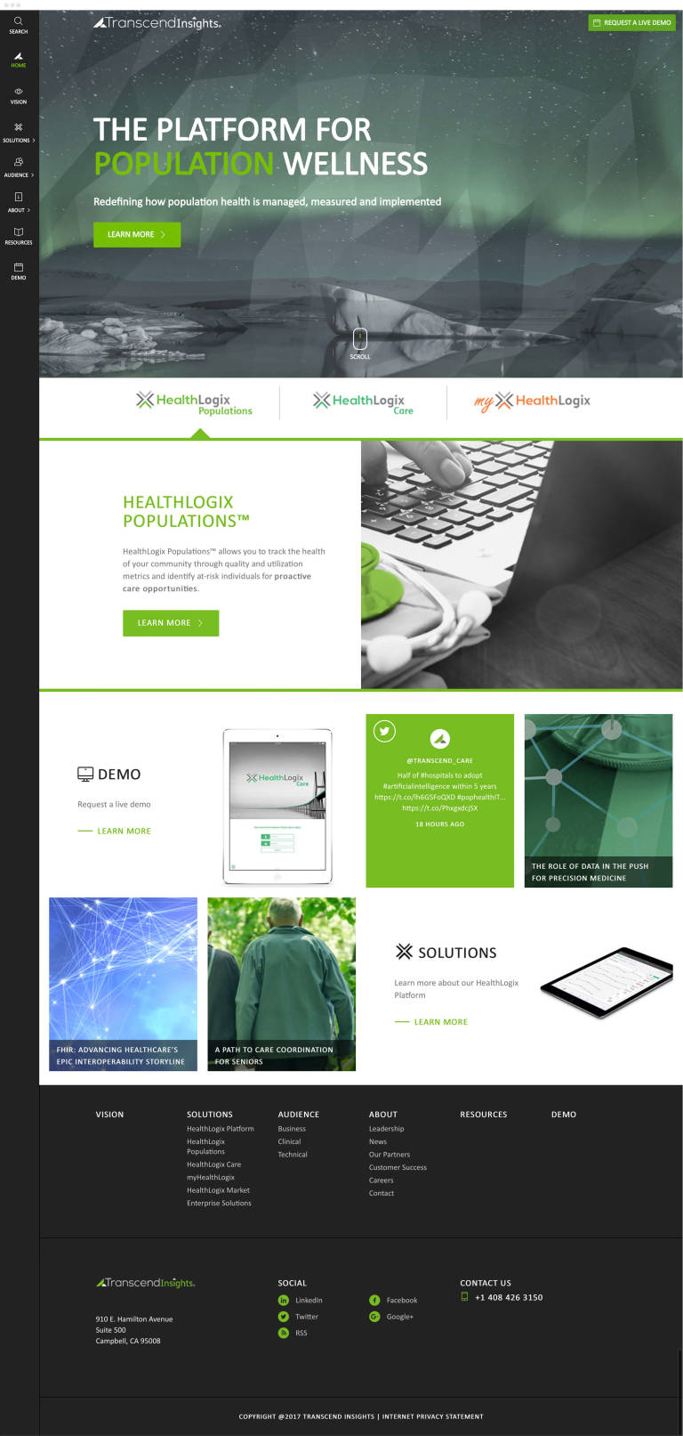 Transcend Insights home page