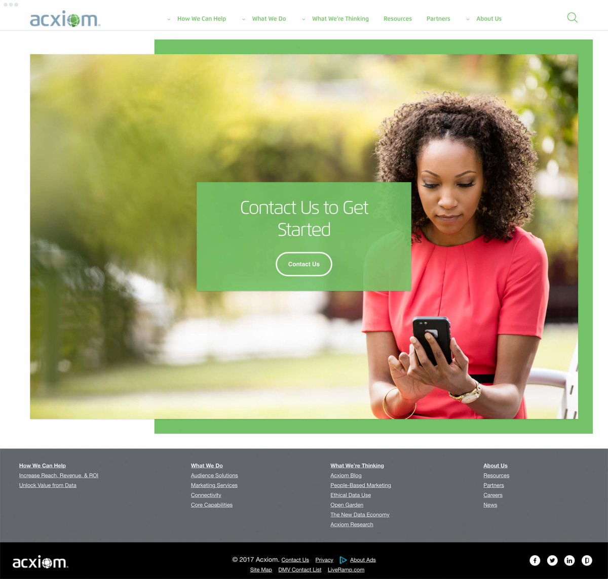 Acxiom get started example