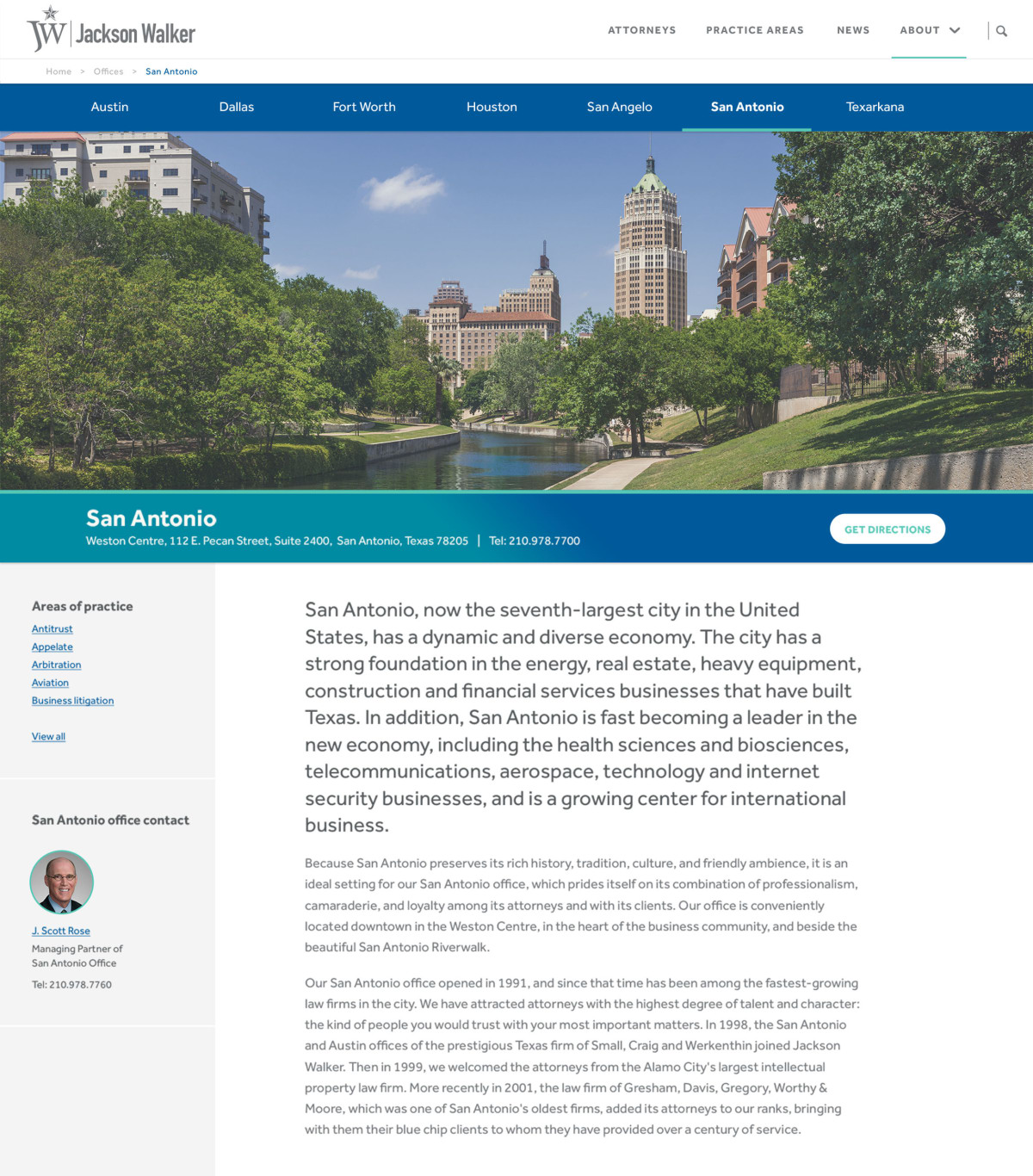 Jackson Walker office page