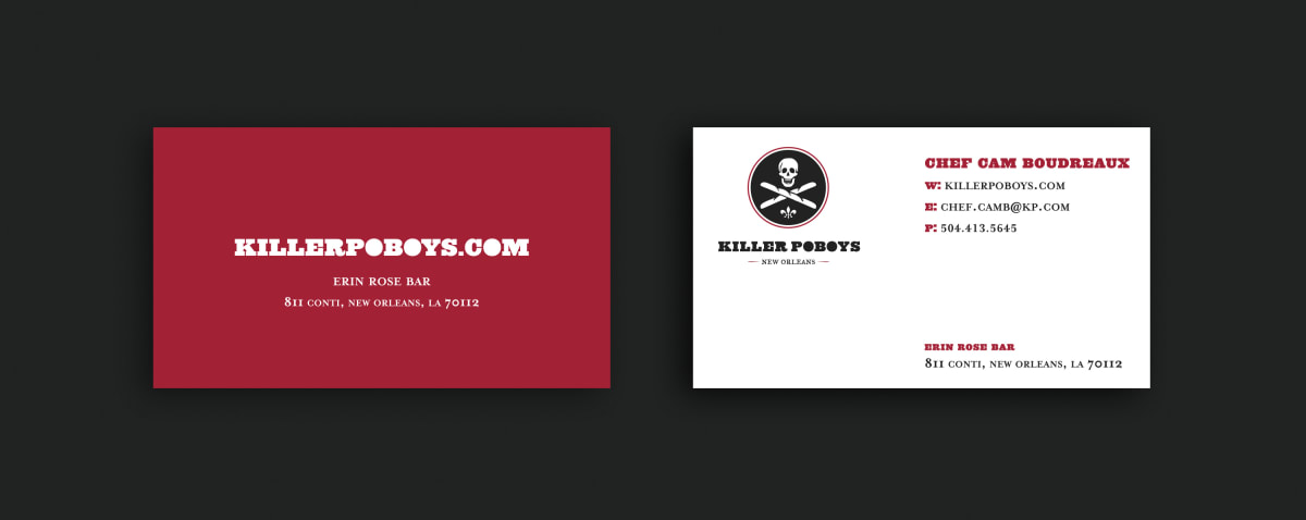 Killer Poboys stationery
