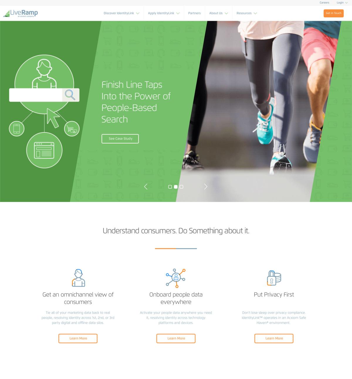 LiveRamp home page