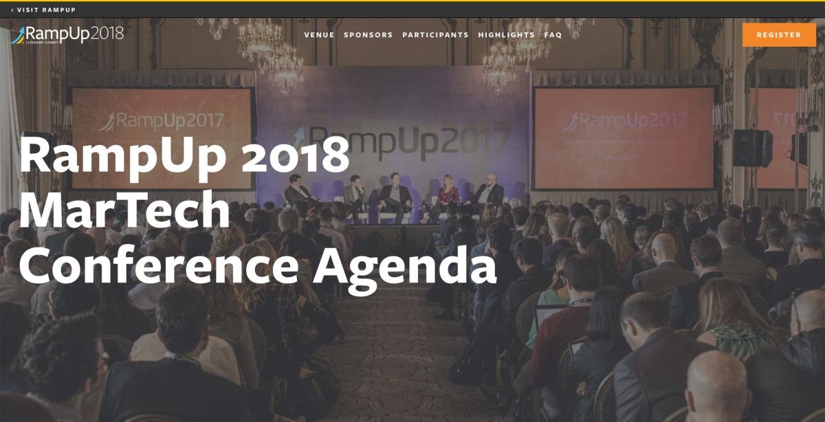 RampUp 2017 Agenda page hero banner