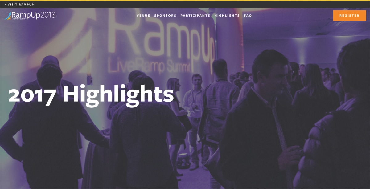 RampUp 2017 Highlights page hero banner
