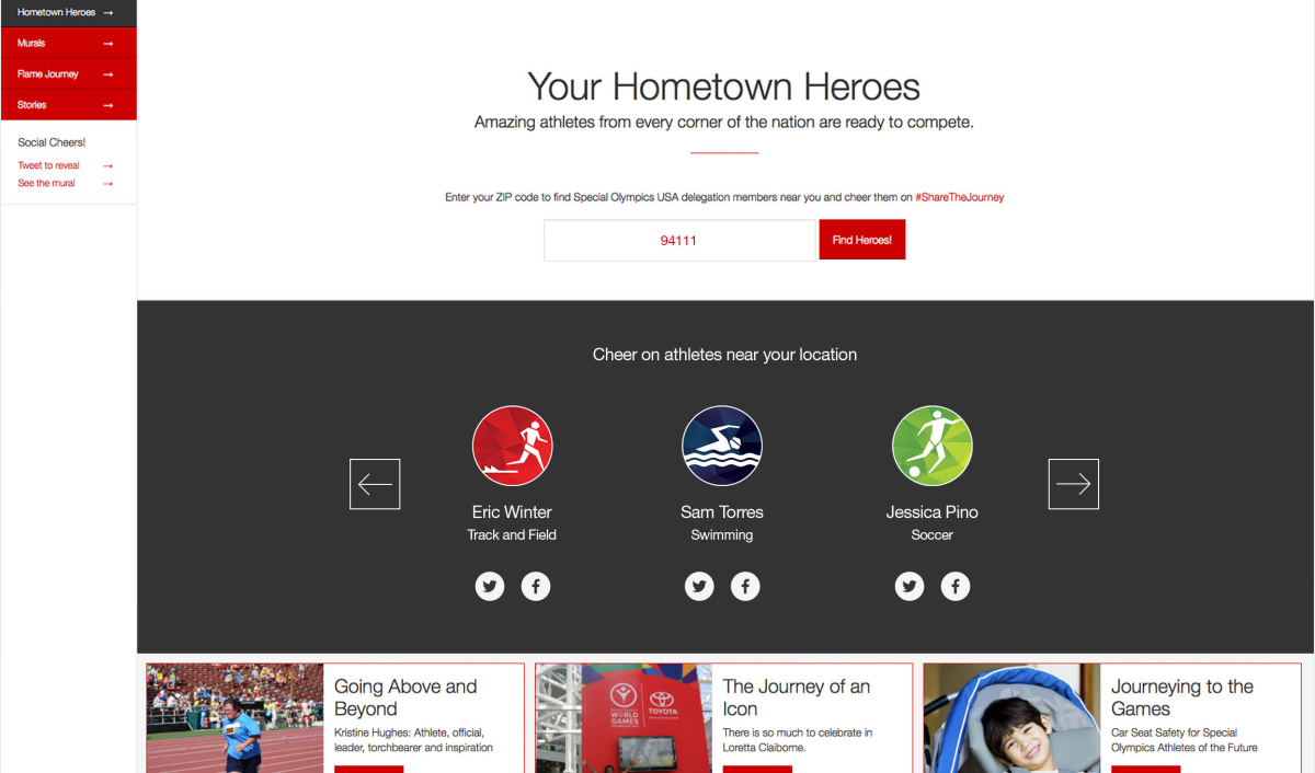 Toyota Hometown Heroes search results